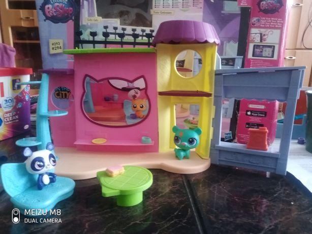 Domek kawiarnia  Littlest PetShop+ 3 Pet Shop
