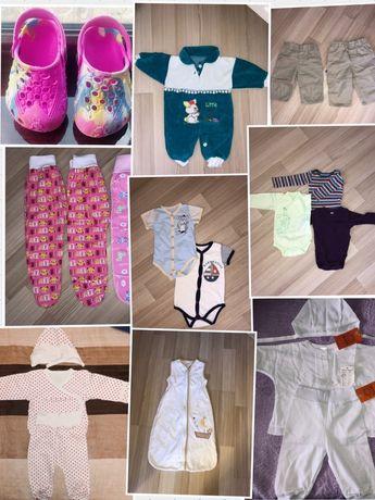 Боди, спальник 0-24мес, костюм, вещи в роддом