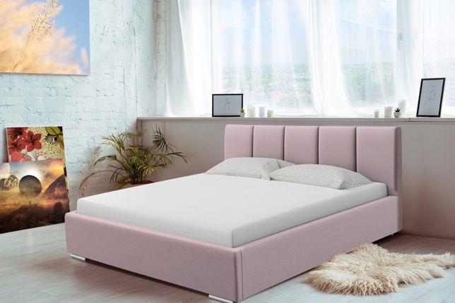 Łóżko do sypialni Madryt, tapicerowane różne wymiary stelaż+pojemnik