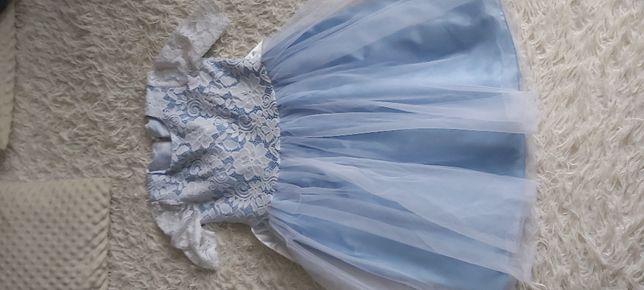 Piękna suknia dla małej księżniczki 146