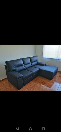Vendo sofá cama preto