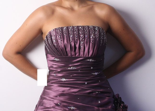 Vestido de gala/dama de honor/noiva Miss Paris, tam 38/40