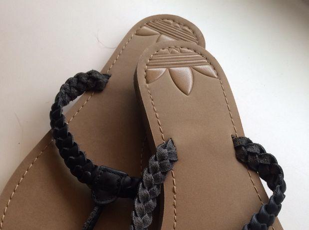 Обувь летняя, adidas, кожа, оригинал, р 37-38, вьетнамки..