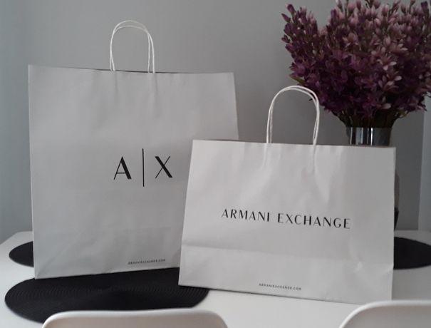 ARMANI A/X AX Papierowa Torebka Sklepowa Prezentowa Podarunkowa DUZA