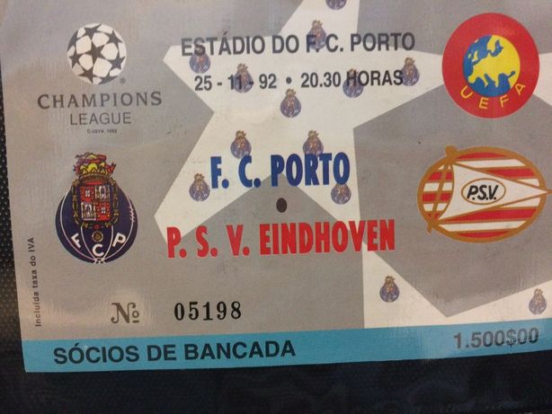 Bilhete FC Porto Vs PSV Eindhoven