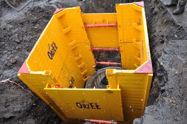 Szalunki do wykopów -studnia 2,5x2,5 wynajem 160PLN
