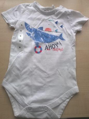 Ubranka niemowlak Body + T-shirt Smyk chłopiec 74 niebieski