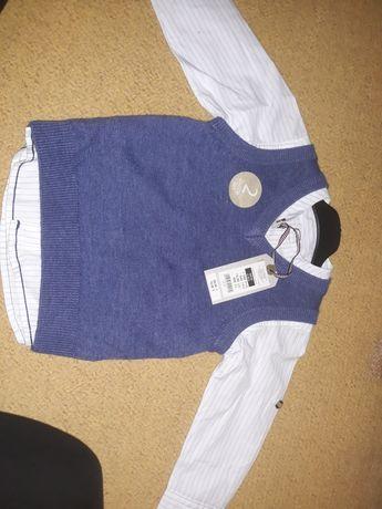 Nowa koszula elegancka kamizelka r 80/86 Smyk Cool Club