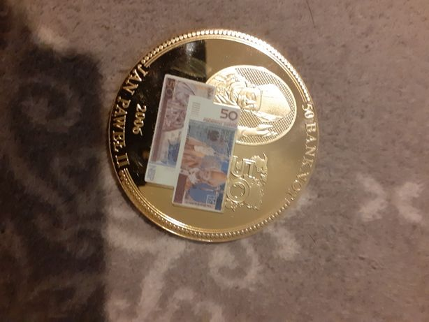 Moneta jan Paweł II 50