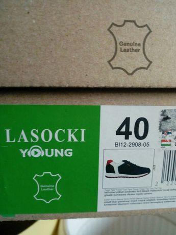 Adidasy Lasocki Young rozmiar 40 skórzane