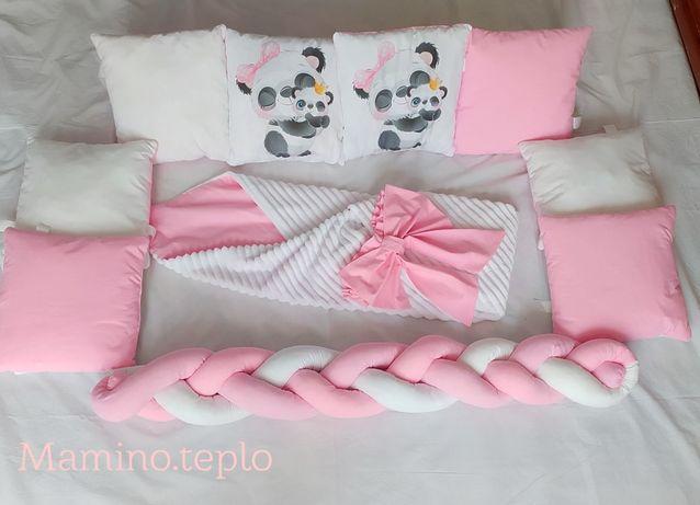 Набор детского постельного в кроватку, Бортики, Конверт на выписку