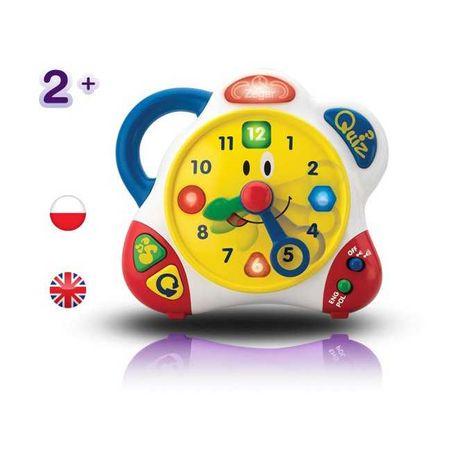 Zegar edukacyjny interaktywny gra mówi po polsku i angielsku 2+ Dumel