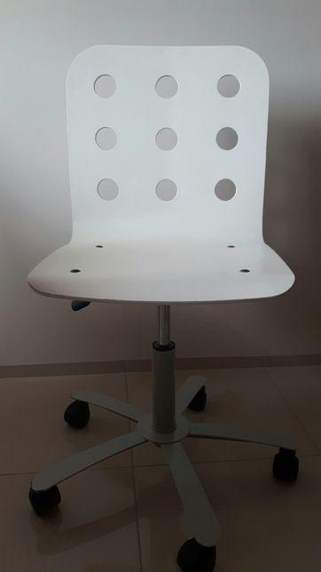Krzesło biurkowe obrotowe białe IKEA duże