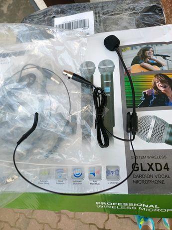 Mikrofon bezprzewodowy nagłowny body pack headset head shure xlr mini
