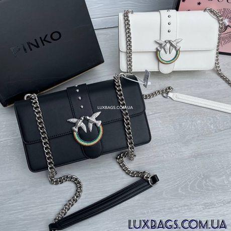 Женская сумка Pinko Simply Пинко с радужной пряжкой