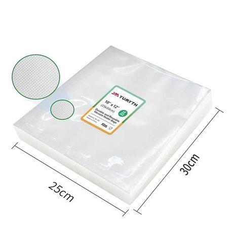 25х30 см, 100 ШТУК! Гофрированные пакеты для вакууматора, упаковки