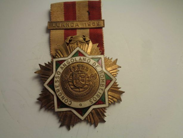 Medalha Condecoração Bombeiros de Angola Oferta do Envio