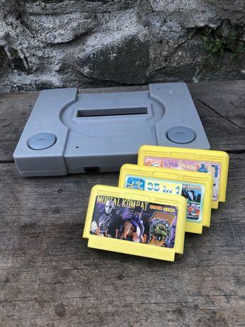 Gra telewizyjna PEGASUS + trzy kardridże Mortal Kombat RETRO vintage