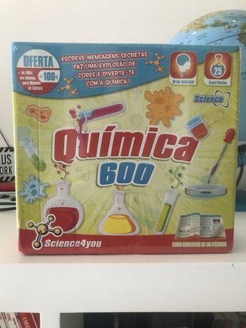 Kit de quimica para criancas nunca usado