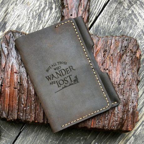Мужское Портмоне для документов, обложка на паспорт, техпаспорт - кожа