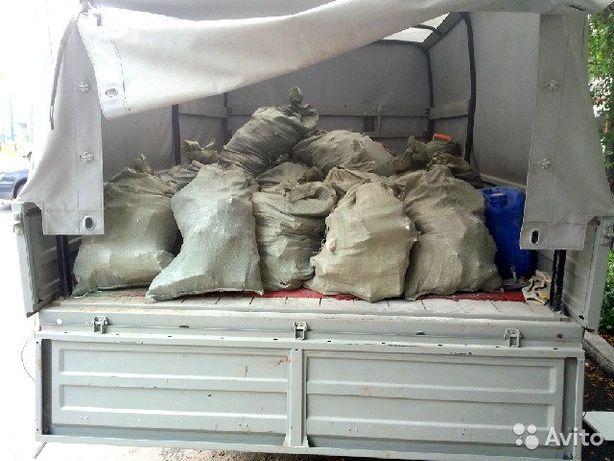 грузоперевозки.вывоз мусора в мешках.цемент песок