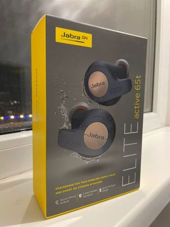 Наушники Jabra elite active 65t (+ 6 комплектов амбушюр)