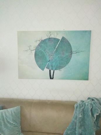 Obraz duży dekoracja ścienna glamour w kolorach mięty 120×80