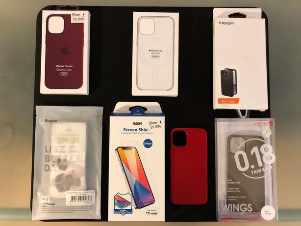 Conjunto capas ORIGINAIS iPhone 12 Mini