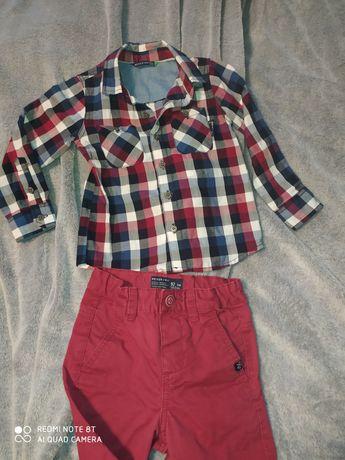 Super zestaw spodnie jeansowe +koszula Reserved rozmiar 92