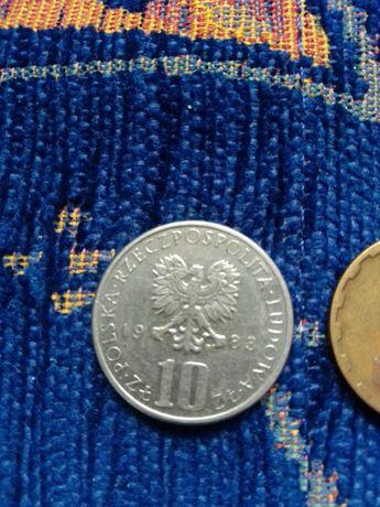 10zl 1983r,5zl  1985-monety PRL!25 monet gratis
