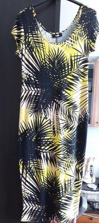 sukienka Wallis tropikalny wzór palmy S, M