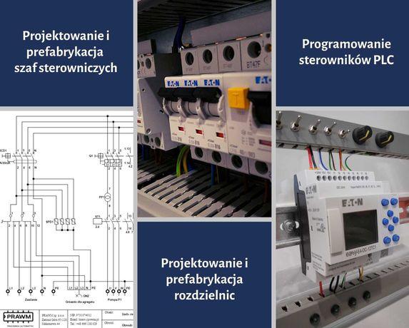Prefabrykacja szaf sterowniczych, rozdzielnic, programowanie PLC