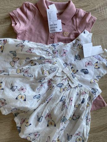 Nowe sukieneczki dla dziewczynki 3-6 miesiecy