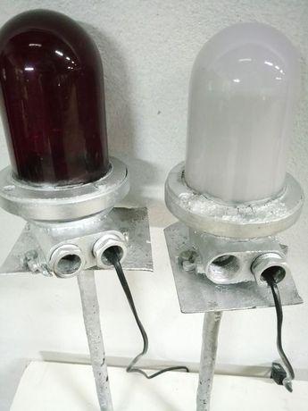 Duas lâmpadas de aeroporto vintage - Polónia - 1950/89