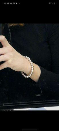 Bransoletka z pereł 6mm vintage