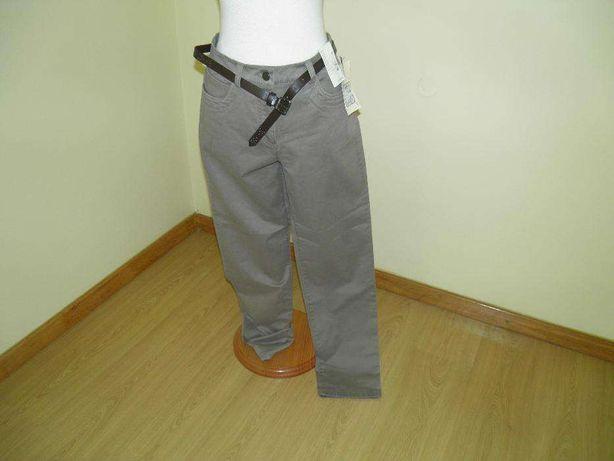 Calças corte esguio elásticas