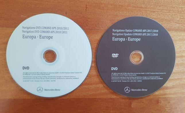 MERCEDES-BENZ - DVD Atualização GPS NAV Europa NTG2 COMAND - v.19 2018