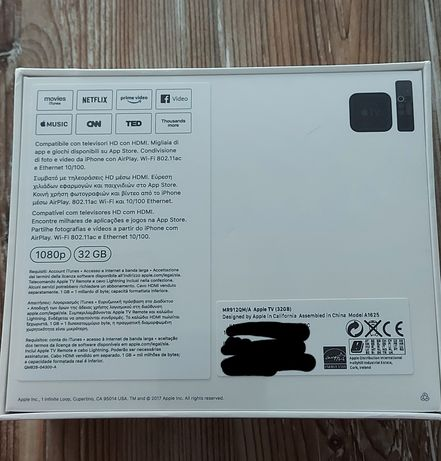 Apple tv HD Nova e selada
