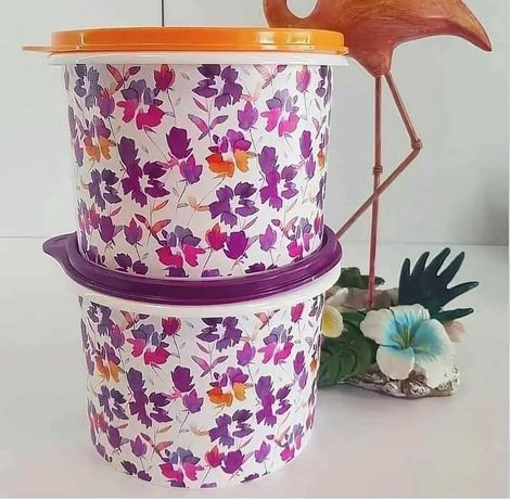 Емкость Осенние цветы 1,1 л и Емкость «Листопад» 1,1 л Tupperware