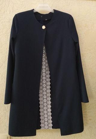 Школьный костюм (платье+кардиган)