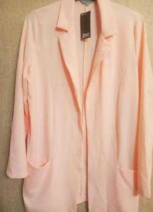 Красивый пиджак блейзер sora JBC размер евро 42 персиковый цвет
