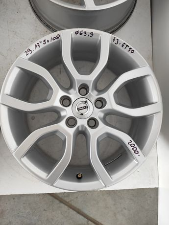 29 Felgi aluminiowe ORYGINAŁ VOLVO R 17 5x108 otwór 63,3 Bardzo Ładne