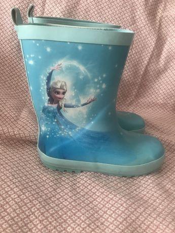 Резиновые сапоги сапожки Frozen Анна эльза, гумові чоботи