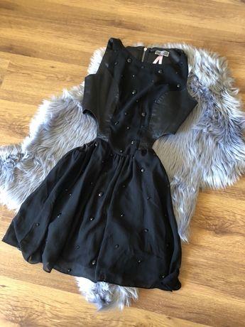 Czarna sukienka z wycięciami w talii, rozmiar s