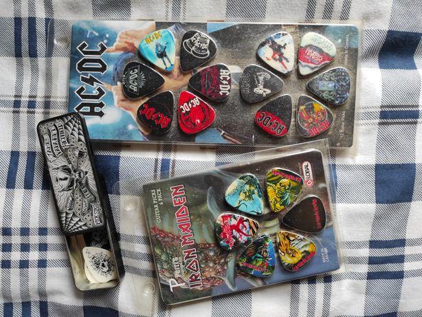 Palhetas Rock Iron Maiden ACDC Metallica