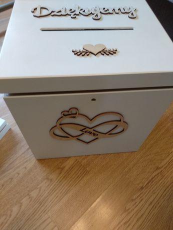 Pudełko, skrzynka na obrączki i koperty