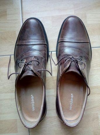 Buty męskie WOJAS brązowe skórzane klasyczne