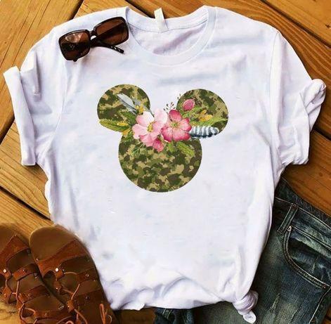 Koszulka bluzka t-shirt Disney Myszka Minnie Miki Mouse S-XXL moro