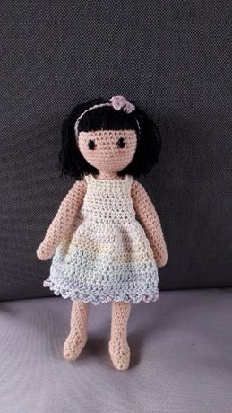Szydełkowa mała lalka Hania Gorjuss 20 cm