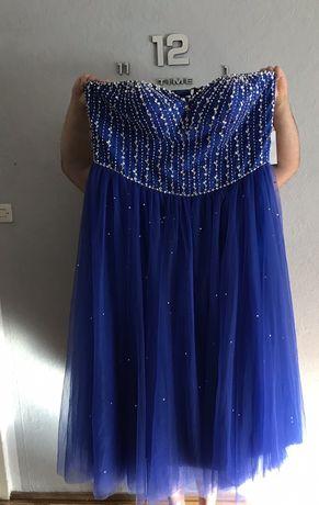 Suknia wieczorowa tiulowa z tiulem cekiny 50,52,54